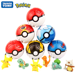 TOMY Pokemon Elf Ball Pikachu Pokeball Pocket Monster Variant Toy Action Figure Model Toys Kids Game Cosplay Toy Gift