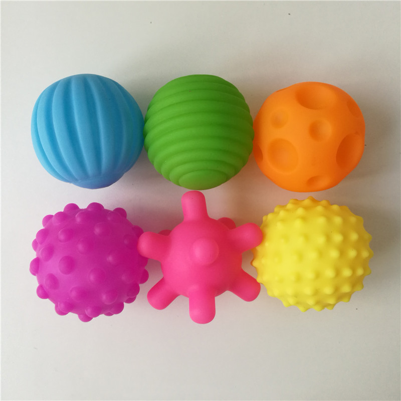 Baby Hand Touch Sounding Sensory Ball Texture Touch Soft Rubber Massege Toys Balls Toys For Kids Children