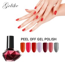 Gelike 10ml Color Gel Nail Polish UV Nail Gel Polish Lacquer Gel Nail Polish Peel Off Gel Polish Easy Peel off Removal Colorful sample of the gel polish from cola
