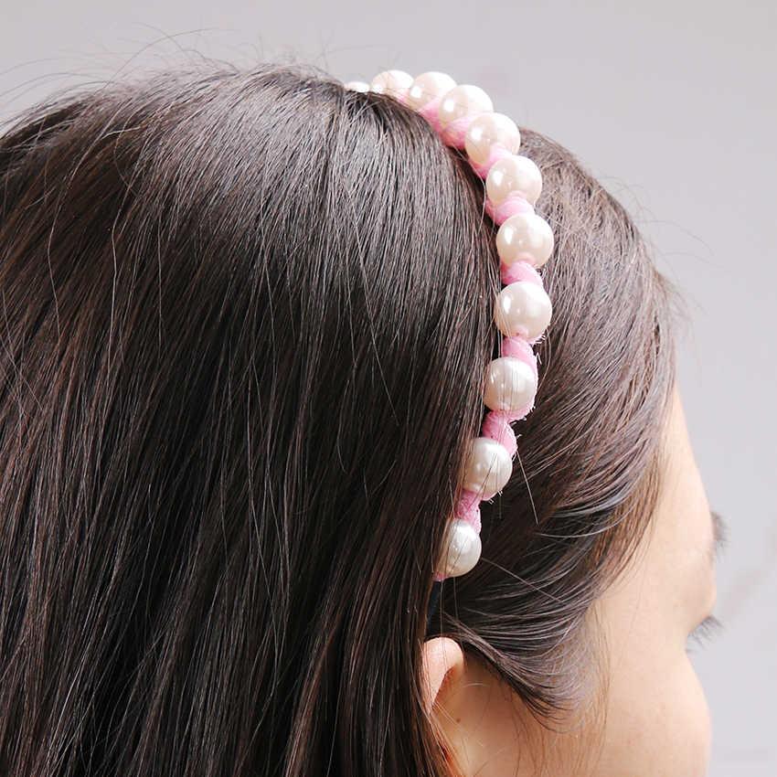 1 Pc Vrouwen Kant Prinses Hoofdband Meisjes Mooie Haarband Geïmiteerd Parel Hairbans Bows Hoofddeksels Haar Accessoires