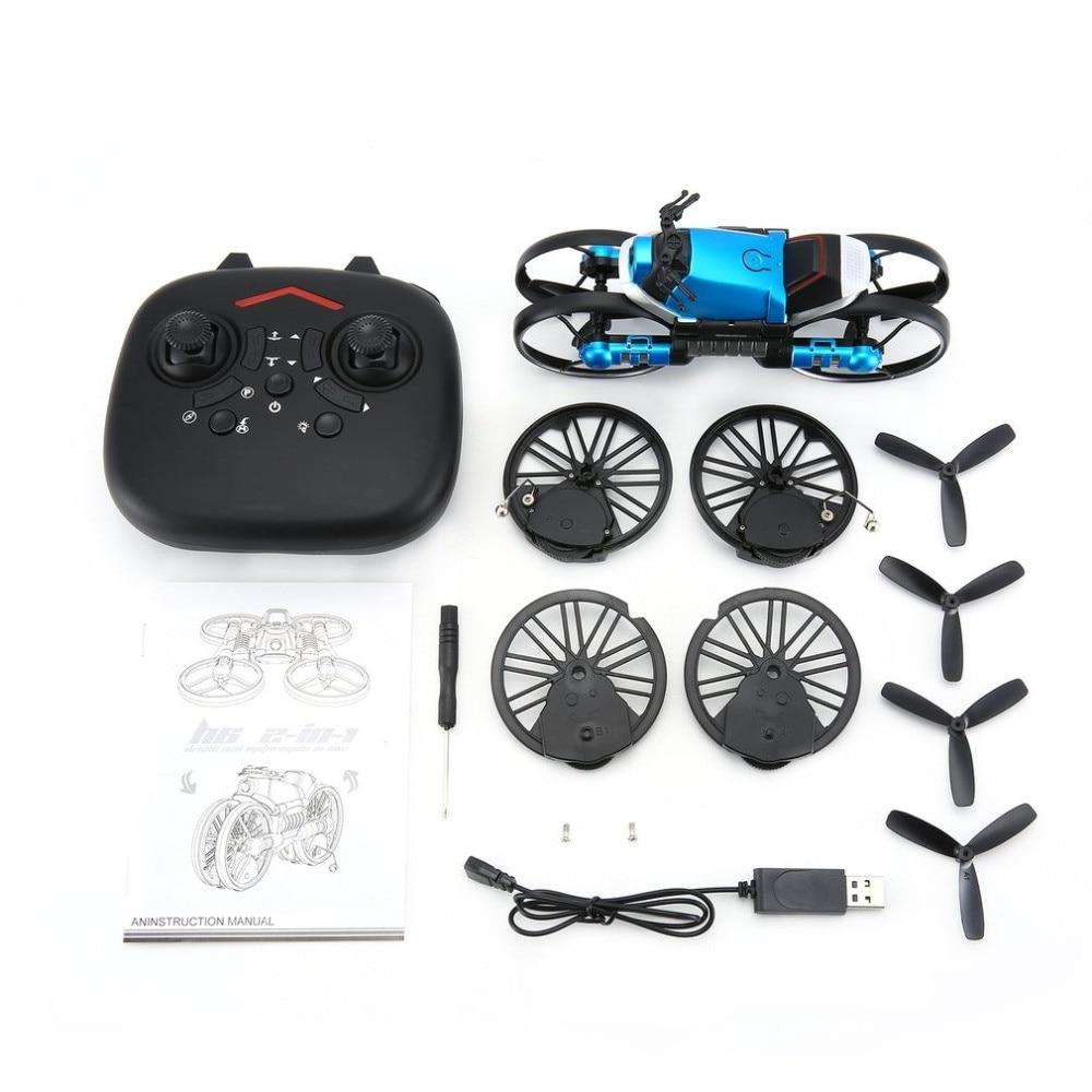 2 в 1 RC деформационный складной мотоцикл 2,4G wifi Пульт дистанционного управления Мотор велосипед RC складная игрушка wifi камера Дрон с безголовым режимом