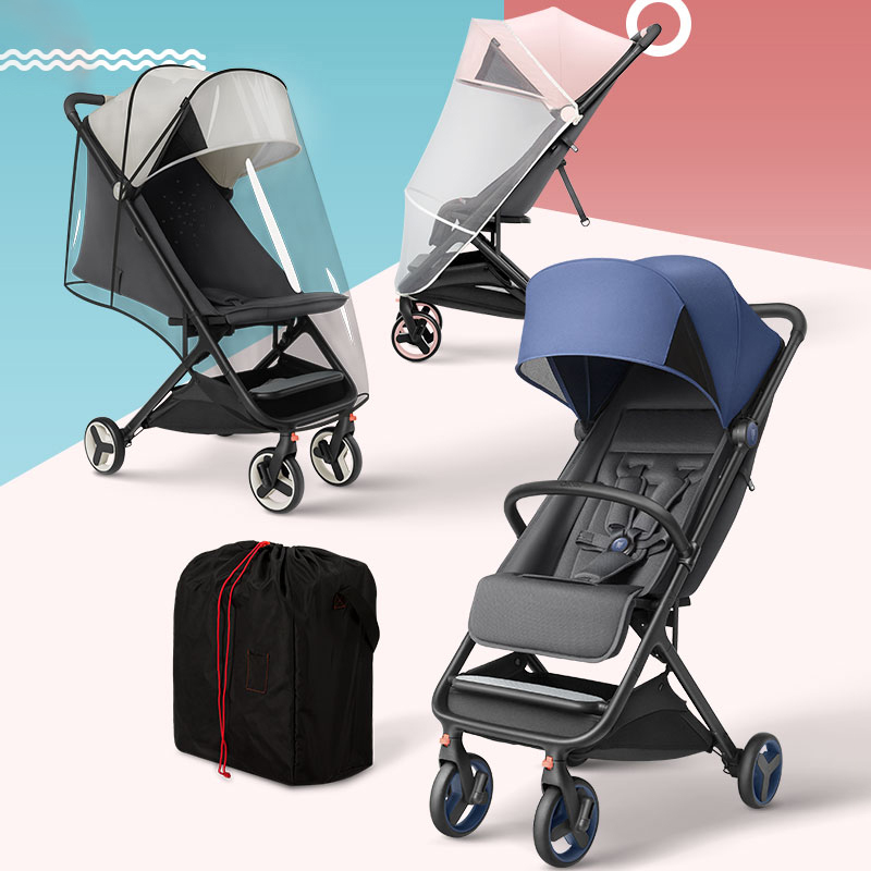 Mitu Folding Baby Trolley Armrest Mosquito Net Rain Cover Storage Bag Infants Pushchair Baby Stroller Accessories
