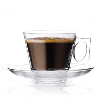 Taza De café De vidrio creativa y soporte para platillo, Juego De...