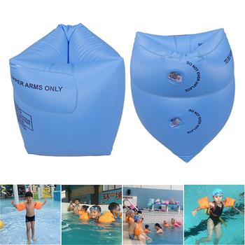 1 para ramię dorosły pływające rękawy koło dzieci nadmuchiwany pierścień pływacki dla bezpieczeństwo pływania szkolenia dmuchane koło do pływania tanie i dobre opinie Dziecko Arm swimming Ring Adult Children Blue Pink
