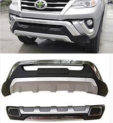 ABS przedni i dyfuzor tylnego zderzaka osłona zabezpieczająca osłona płyty zderzaka dla Fortuner Toyota 2016 2017 2018 2019