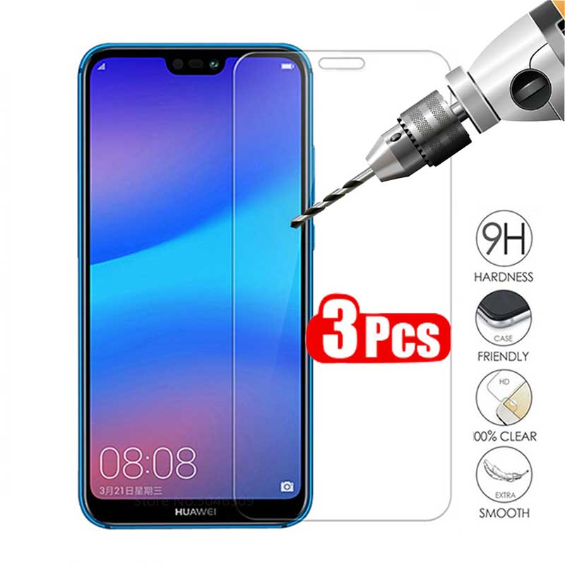 ZOKTEEC 3PCS 2.5D 9H Tempered Glass For Huawei Y5 Y6 Y7 Y5 Prime II Pro 2017 2018 2019 Screen Protector Cover Toughened Film