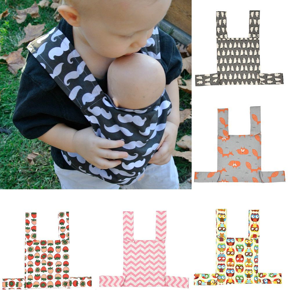 1Pcs Cute Toy Front Back Carrier Cartoon Soft Doll Carrier Multi-typed Shoulder Strap For Kids Baby Durable