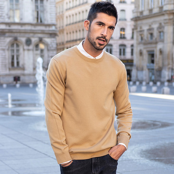 KUEGOU Autumn winter clothing  Solid color Men's sweater stretch Couple pullovers fashion warm sweaters top plus size YYZ-2209 14