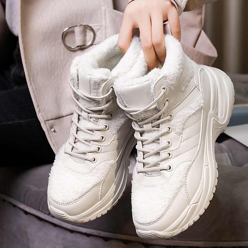 Delle donne di Inverno di Neve Boot Big Suola Scarpe Da Ginnastica Per Le Donne Della Caviglia di Modo Della Piattaforma di Inverno di Avvio Anti-slip Scarpe Da Outdoor A Piedi sotto 38℃