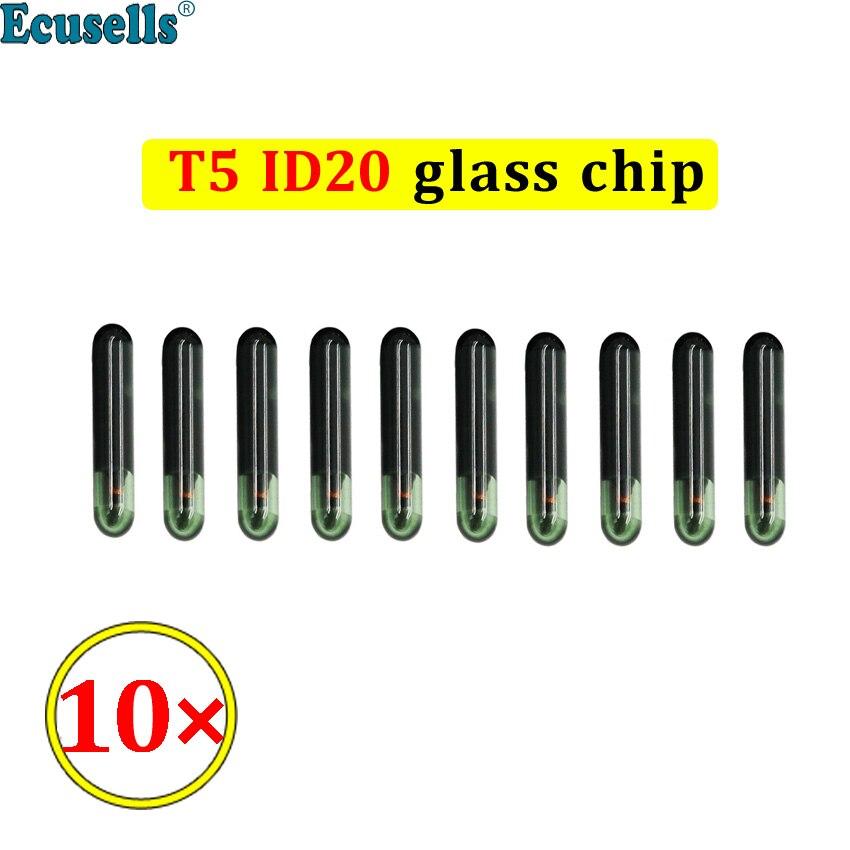 10 шт./лот чип-Транспондер T5 ID20, чип для автомобильного ключа, стеклянный чип ID20