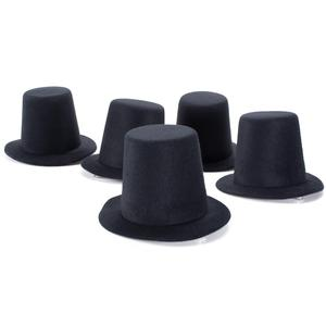 Image 1 - A006 10pcs/lot  Mini Top Tall Hat High 9cm Millinery Fascinator Base DIY Craft Fashion Simple Solid Color Hats