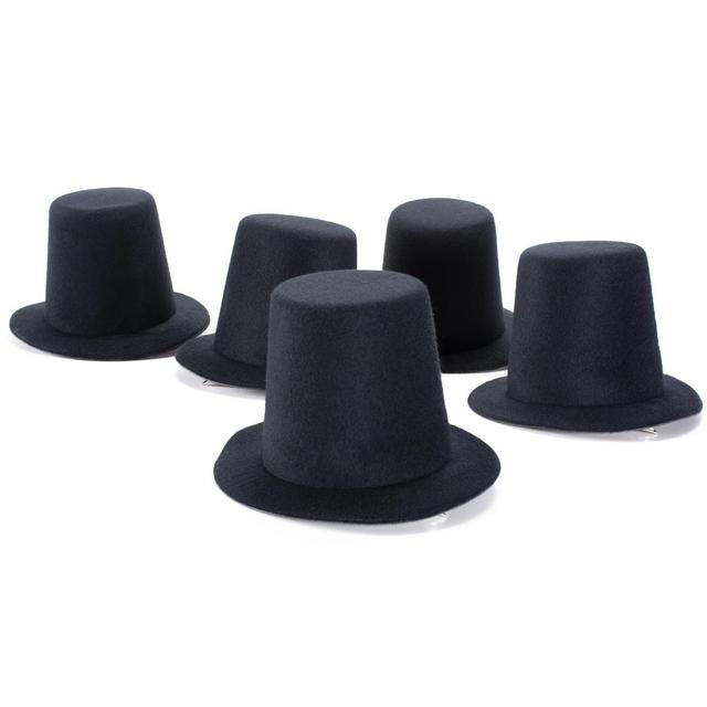 A006 10pcs/lot  Mini Top Tall Hat High 9cm Millinery Fascinator Base DIY Craft Fashion Simple Solid Color Hats