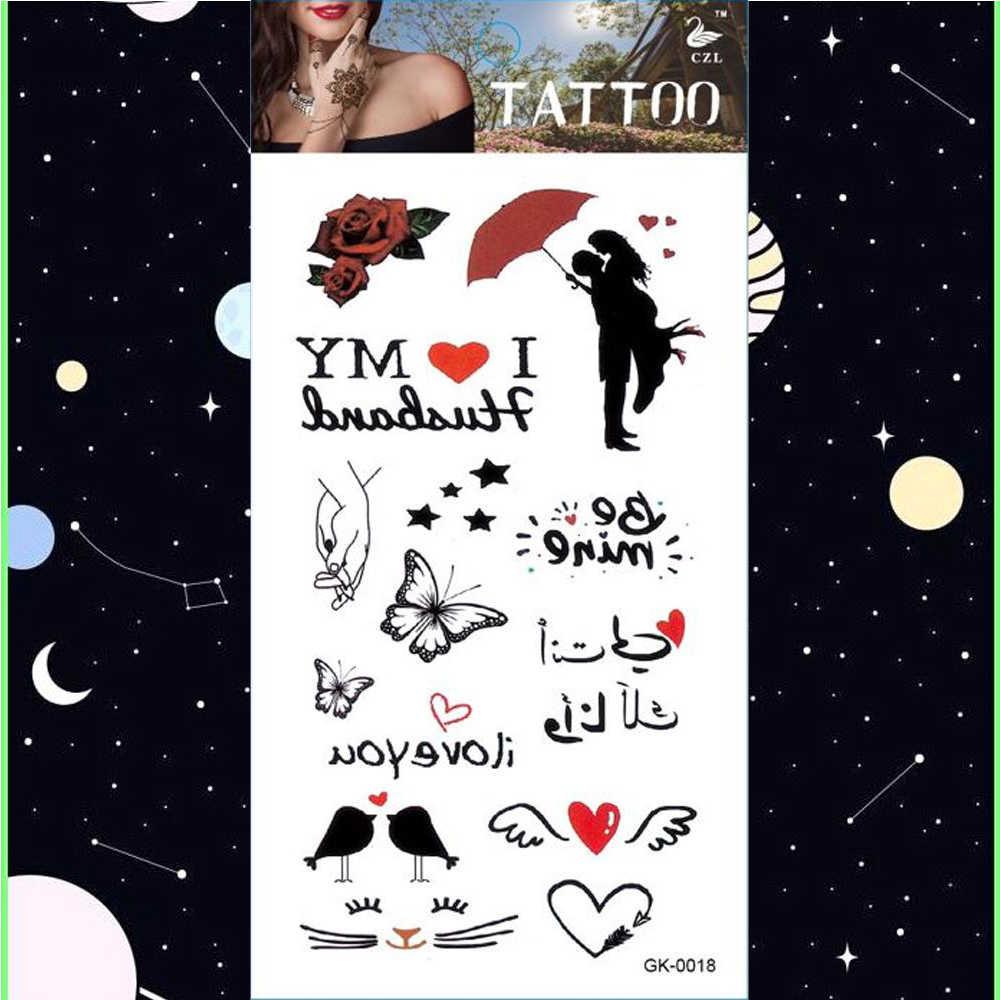 Text Quotes And Hearts Temporary Tattoo Sticker Mandala Tattoos Cartoon And Unicorn Body Art Arm Waterproof Fake Tatoo Aliexpress