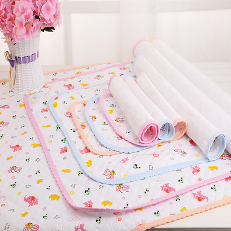 Cotton Newborn Baby Crib Mattress Portable Foldable Washable Cartoon Baby Waterproof Mattress Bed Sheet Infant Change Mat Cover