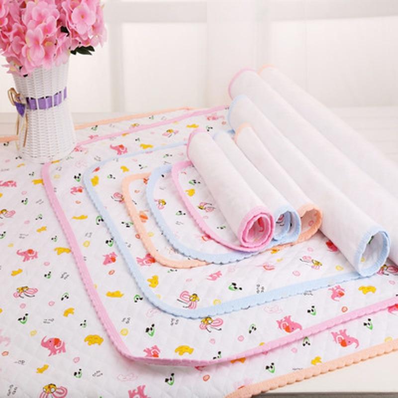 Cotton Newborn Baby Crib Mattress Portable Foldable Washable Cartoon Baby Waterproof Mattress Bed Sheet Infant Change Mat Cover