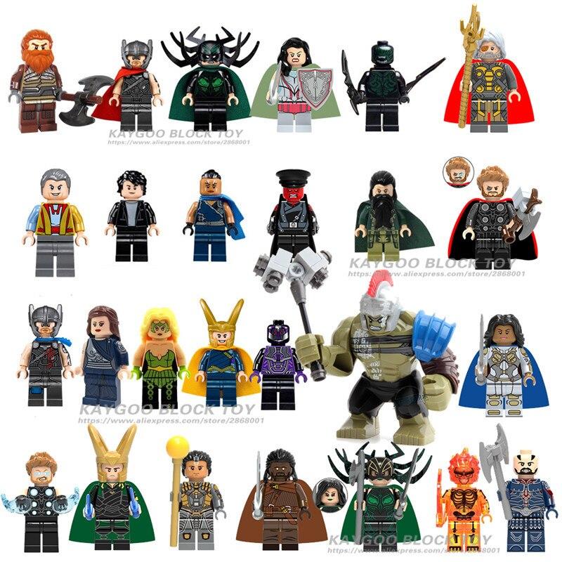 NEW Super Heroes LEGOED Marvel Avengers Infinity War Iron Man Loki Thanos Odin Captain America Thor Hulk Building Blocks Toy