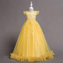 vestido de festa longo plus size floral formal long dress Girl Robe de soiree kinderkleding meisjes princesas kiz cocuk elbise princesas stickermania castillos de ensueno