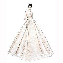 Heißer verkauf rosa satin weg von der schulter spezielle spitze design Hochzeit Kleid fabrik großhandel preis brautkleid nach maß