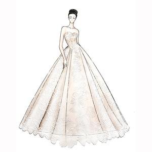 Image 1 - Venda quente cetim rosa fora do ombro design de renda especial vestido de casamento fábrica feita preço por atacado vestido de casamento feito sob encomenda