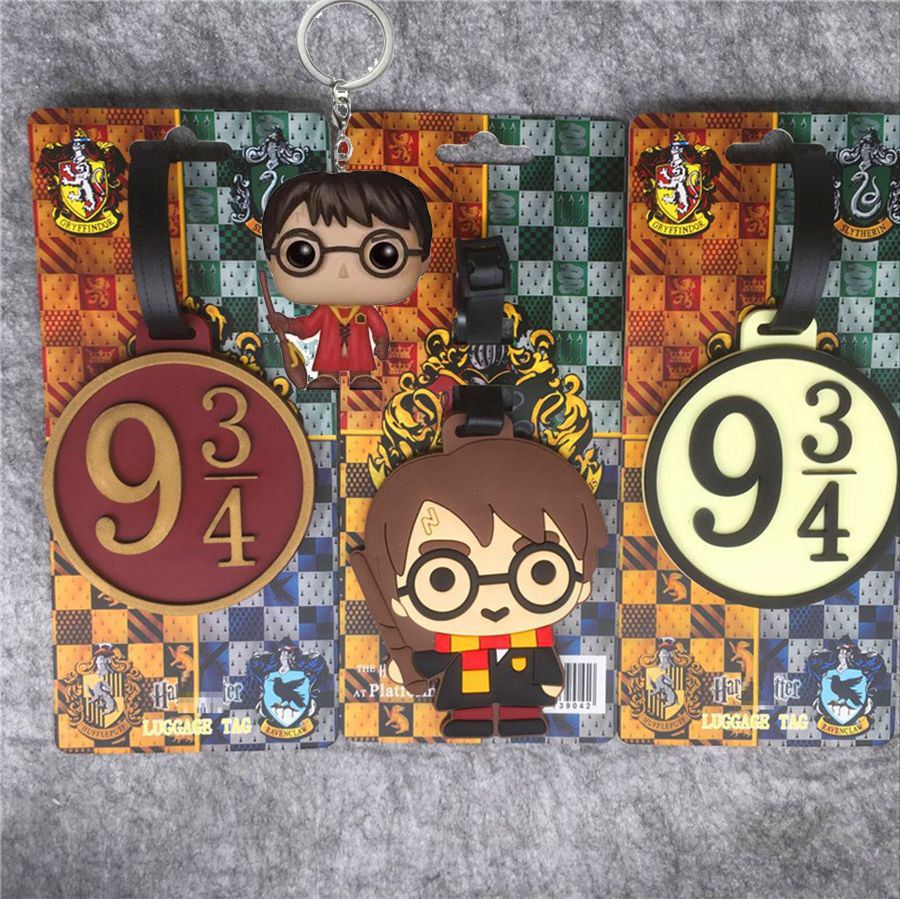 Fashion HP Potter Luggage Tag Silica Gel Suitcase ID Addres Holder Baggage Boarding Portable Labels Action Figure Toys