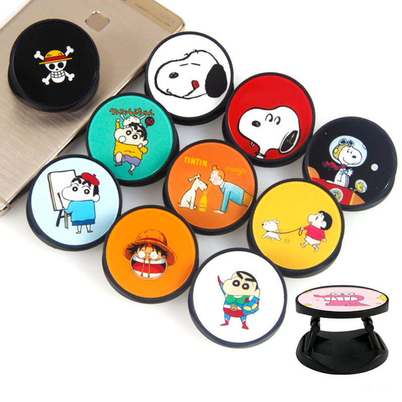 Cartoon Snoopi Crayon Shin-chan Foldable Phone Grip Finger Ring Phone Holder Phone Bracket For IPhone Stand Holder Phone Holders