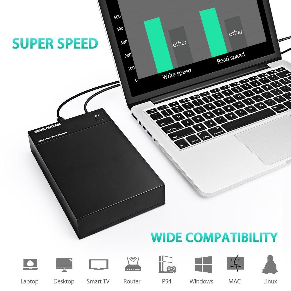 "2.5/""//3.5/"" Sata USB 2.0//3.0 Hard Drive HDD Enclosure External Laptop Case Cable T"
