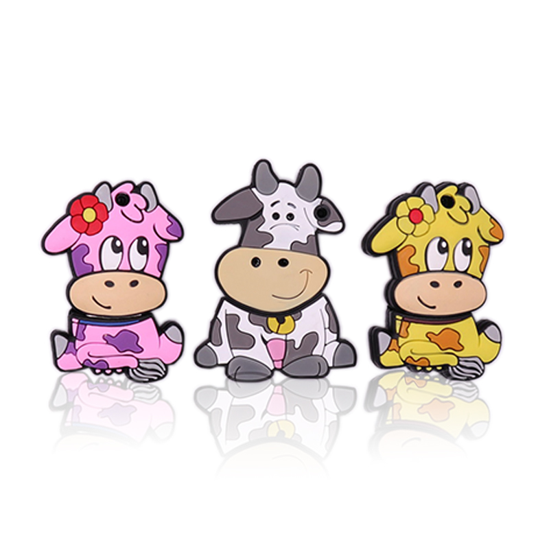 USB2.0 Pen Drive 128gb Memory Stick Pendrive 64gb Cartoon Big Bull Cow Usb Flash Drive 4gb 8gb 16gb 32gb Cute Animal  Cle Usb