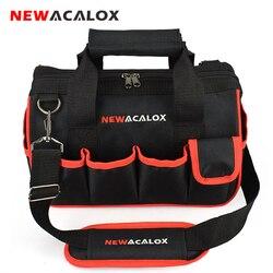 Newacalox 12 sacos de ferramentas grande capacidade engrossar ferramentas ferramentas de reparo profissional saco 600d fechar superior boca larga eletricista sacos