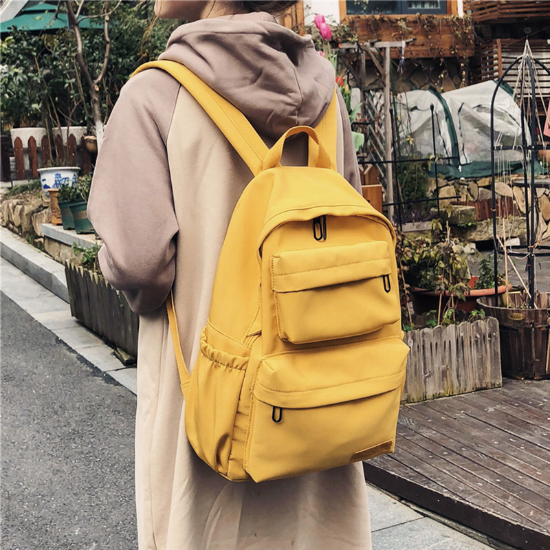 Waterproof Nylon Backpack For Women Multi Pocket Travel Backpacks Large Capacity School Bag For Teenage Girls Purse Backpack