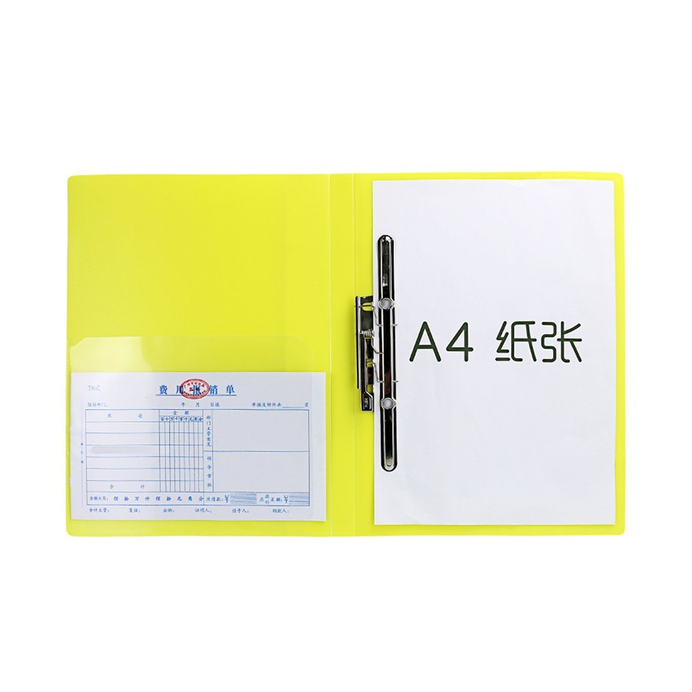 TIANSE TS-1603 Solid Color Stationery Files Folder Portable Size Business Office Document Holder Folder For A4 Paper