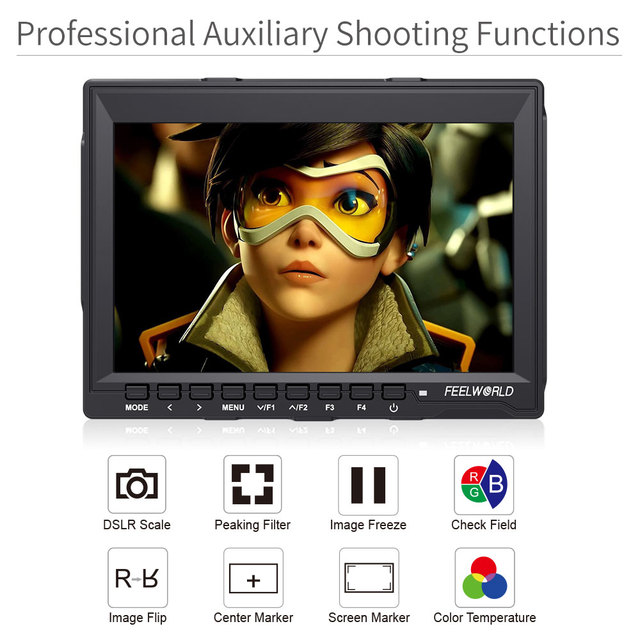 FEELWORLD 7 inch Portable LCD HD Gaming Monitor 4K HDMI IPS HD Screen Display Game Monitors for XBOX  2