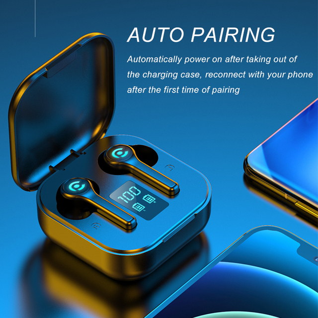 56 HOURS LONG Battery Wireless Bluetooth V5.1 Earphone Colorful Wireless Headphone HIFI Stereo Earbuds Call Earphone with Mic 5