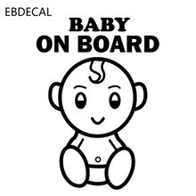 BABY ON BOARD Vinyl Reflective Laser Luminous Motorcycle Car Sticker Decal Windows Wall Suitcase EBdecal CT33700(China)