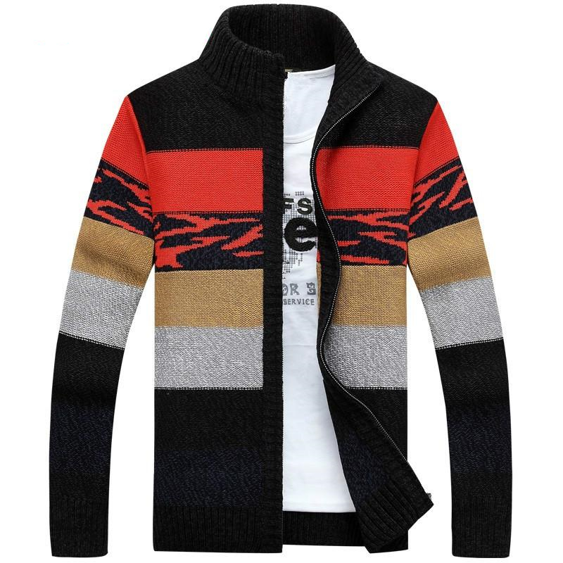 2020 Winter Mens' Knitted Sweaters Cardigans Collar Wool Sweater Fashion Cardigans Male Sweaters Coat Mens'Clothing