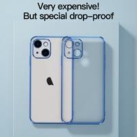 Funda de teléfono Apple iphone 13 Pro Max/ Mini, cubierta completa con agujero fino, revestimiento esmerilado, transparente, bolsa de teléfono 2021