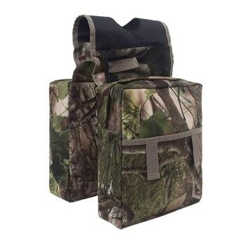 Durable Universal camuflaje ATV bolsa de tanque bolsa de sillín moto de nieve motocicletas bolsa de tanque de aceite impermeable Paquete de almacenamiento de equipaje
