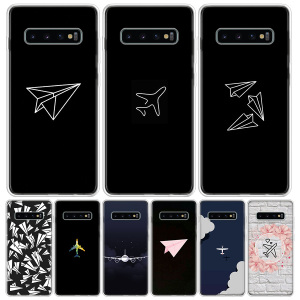 Travel the world paper plane Phone Case For Samsung Galaxy A50 A70 A30S A51 A71 A10 A20E A40 A90 A20S M30S A6 A7 A8 A9 Plus Coqu