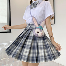Japanese School Uniforms Plaid Skirts Girl's Dresses JK Suits Bowknot Shirt Female Sailor Costumes Dress Clothes for Women