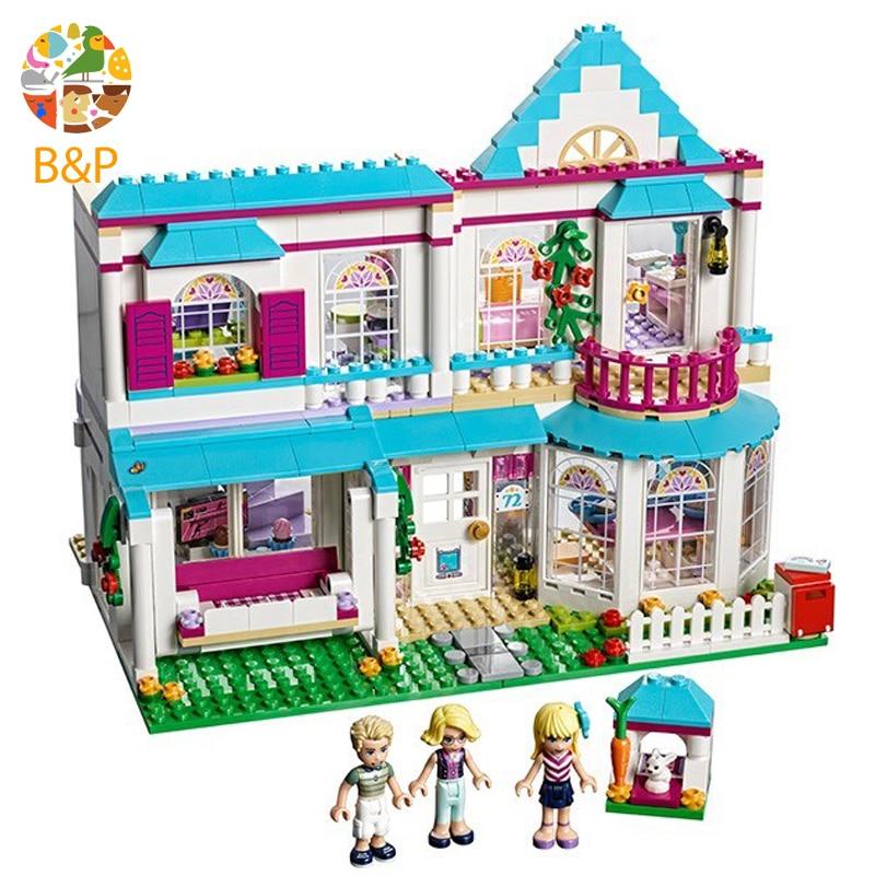 41314 Leoging 622 шт. девушка друзья серия Принцесса Стефани дом строительные блоки кирпичные игрушки для детей подарок 01014
