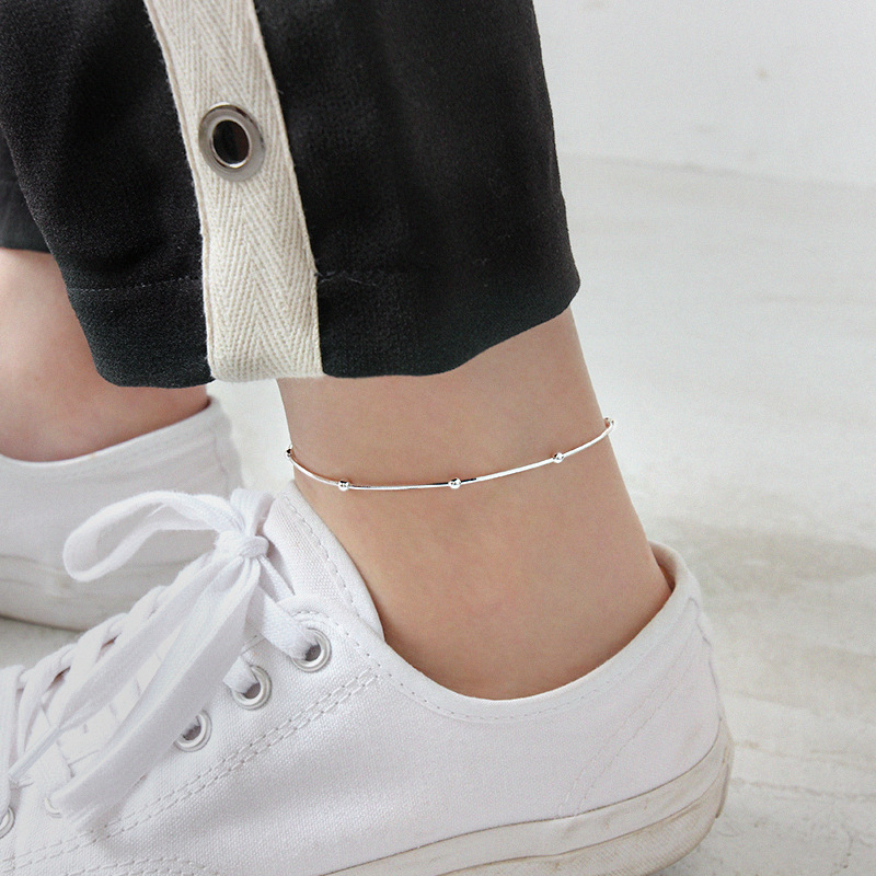 Filluck Snake Bone Chain Real 925 Sterling Silver Anklet Fashion Fine Jewelry For Women Anklets On Foot Birthday Gifts