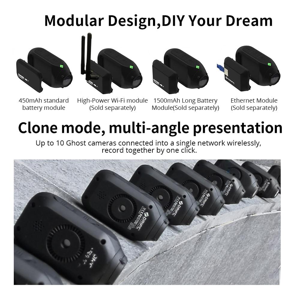 Drift Ghost 4k+ Plus HD Motorcycle Bicycle Bike Body Worn Helmet Sport Cam with Wifi App Control 1950mAh Battery Action Camera 5