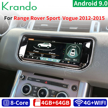 Krando Android 9.0 10.25'' Car Radio Player for Range Rover Vogue Sport Evoque Bosch/Harman 2012-2018 Gps Navigation Multimedia image