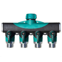 Garden Hose Pipe Splitter Plastic Drip 3/4 Irrigation Water Connector Agricultural 4 Way Tap Connectors|Garden Water Connectors|   -