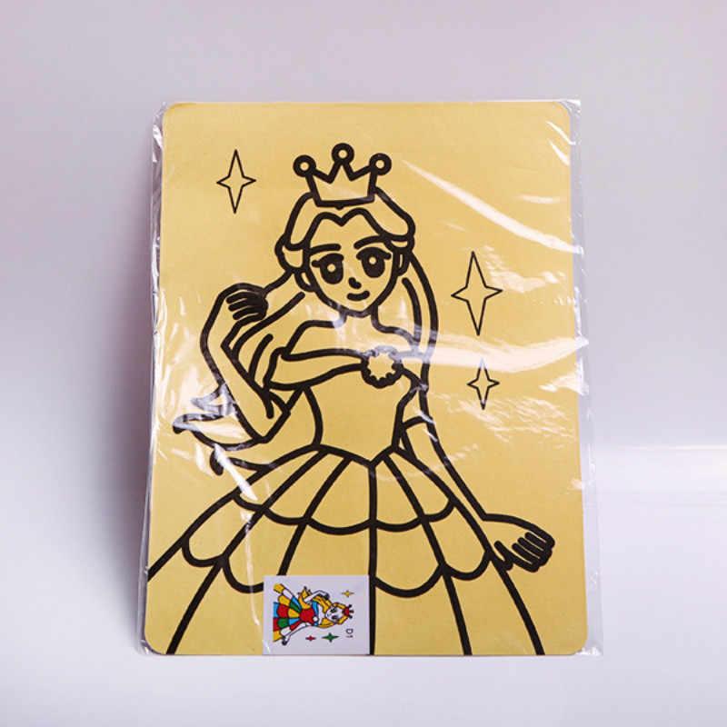 Creativo Fai da Te Pittura di Sabbia per Bambini Giocattoli per Bambini Regali Opere D'arte Artigianato Arte Della Sabbia Immagini Disegno Montessori Giocattoli di Carta