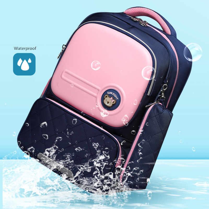 OKKID çocuk okul çantaları kızlar için sevimli kore tarzı çocuk pembe çanta ortopedik okul sırt çantası erkek su geçirmez sırt çantası hediye