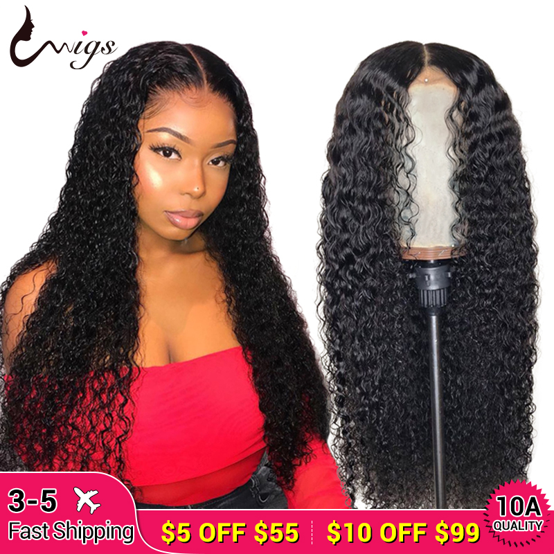 UWIGS Mongolian Kinky Curly Human Hair Wigs 360 Lace Frontal Wig Curly Lace Front Human Hair Wigs 13x6 Curly Lace Front Wig 8-26