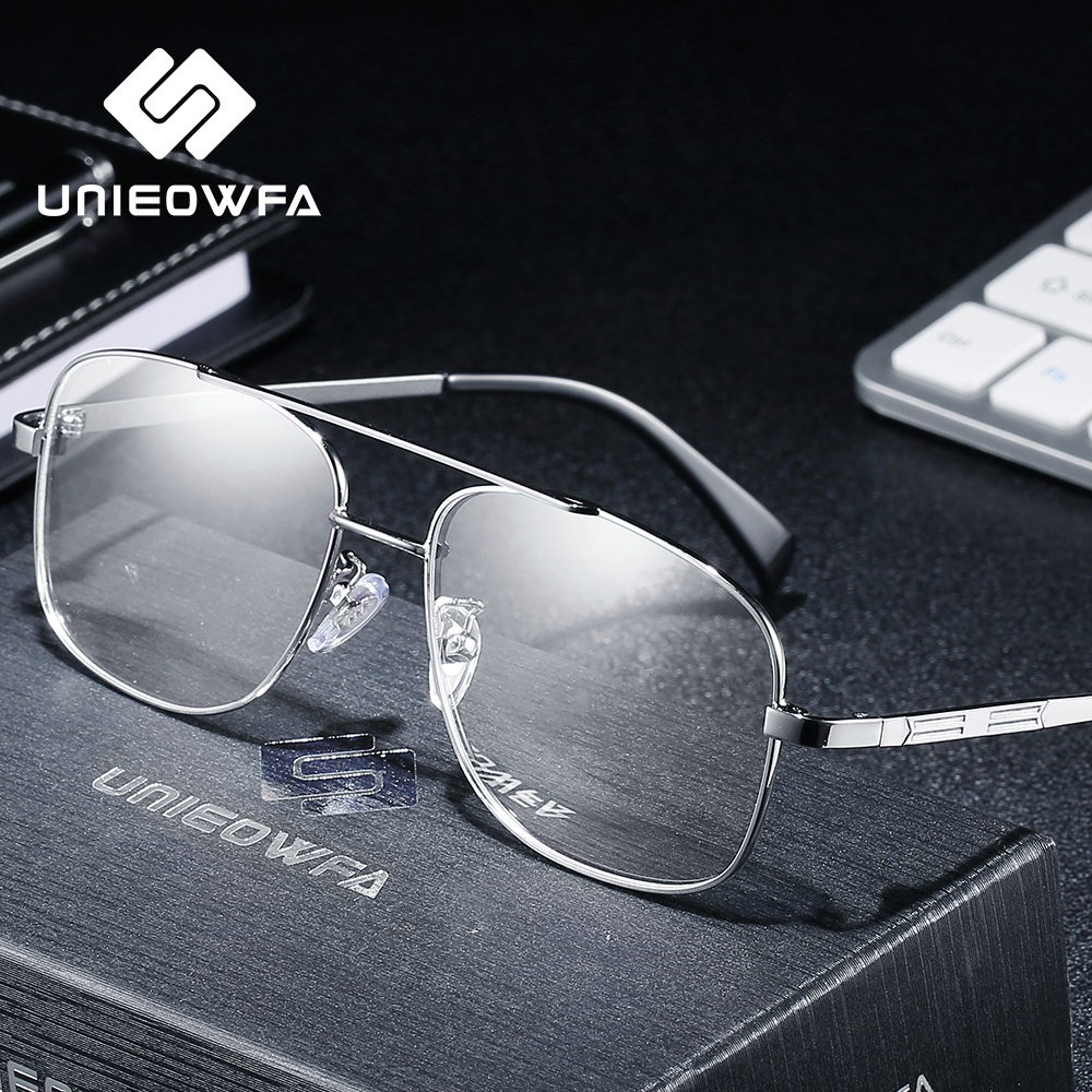<font><b>Prescription</b></font> <font><b>Progressive</b></font> <font><b>Glasses</b></font> <font><b>Men</b></font> Photochromic Optical Eyeglasses Myopia Blue Light Blocking Eye <font><b>Glasses</b></font> Stainless Steel 2019 image