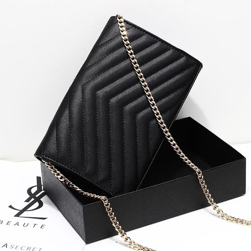 Womens Luxury Designer Envelope Bag Shoulder Bag Elegant Chain Flap Crossbody Bag Handbag Clutch For Office Daily