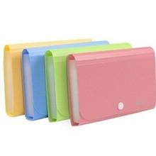 Пластиковые папки для документов ярких цветов А6, маленькие сумки для документов, расширяющиеся бумажники, папки для документов, голубой, розовый, держатель для файлов