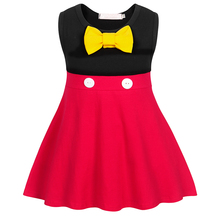 AmzBarley Girls A-line Casual Dress Sleeveless Cotton Bowknot Mini dress Toddler girls Birthday party outfits kid summer clothes
